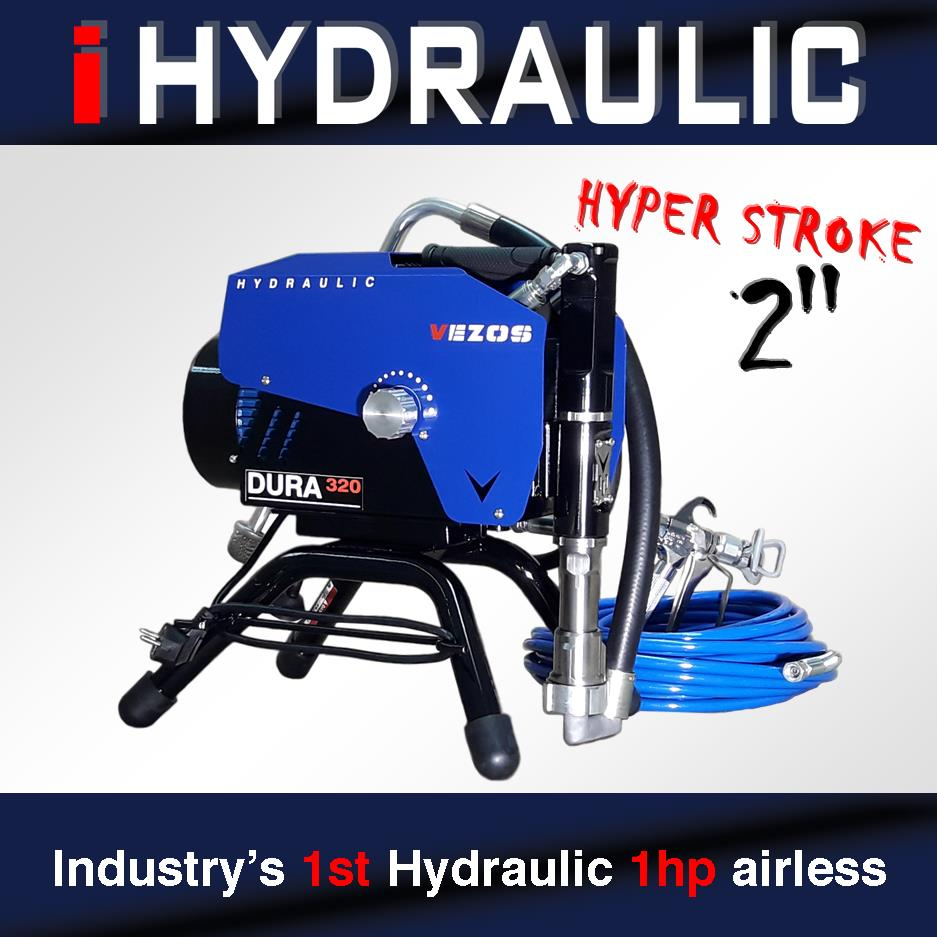 industry's 1st hydraulic 1hp airless paint sprayer - vezos